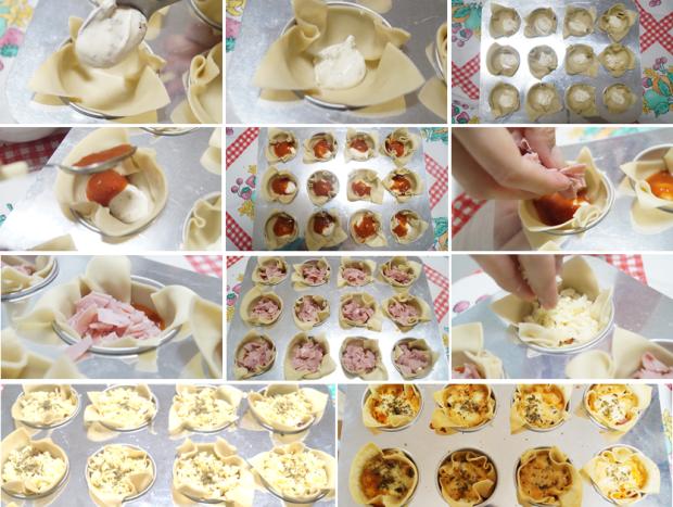 Mini Lasagna - Montagem