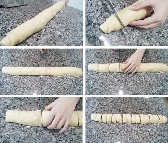 Cinnamon Rolls - Cortando