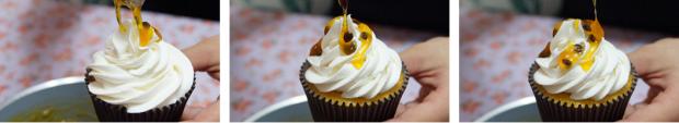 [Cupcake Maracujá] Colocando Calda